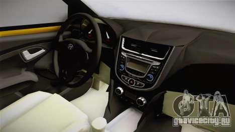 Hyundai Accent 2011 для GTA San Andreas вид изнутри