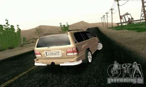 LEXUS LX470 Exclusive для GTA San Andreas вид сзади слева