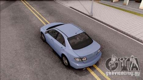 Mazda 6 MPS для GTA San Andreas вид сзади
