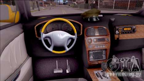 Hyundai Accent Taxi Colombiano для GTA San Andreas вид изнутри