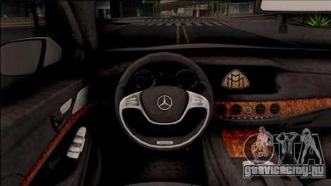 Mercedes-Maybach S600 Pullman для GTA San Andreas вид изнутри