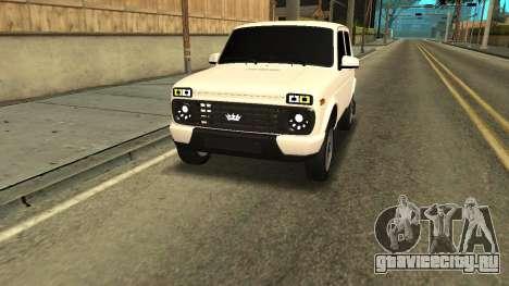 Niva Urban Armenia для GTA San Andreas вид сзади