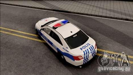 Ford Taurus Turkish Security Police для GTA San Andreas вид сзади