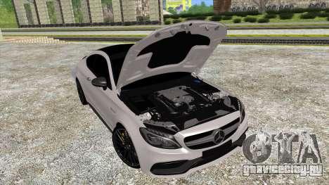 Mercedes-Benz C63 Coupe для GTA San Andreas вид сзади слева