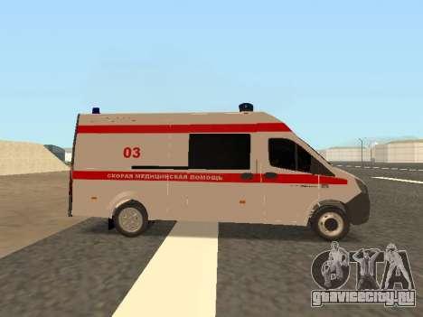 ГАЗель Next Скорая Помощь для GTA San Andreas вид слева