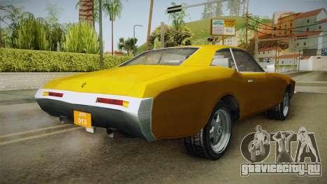 Driver: PL - Andec для GTA San Andreas вид сзади слева
