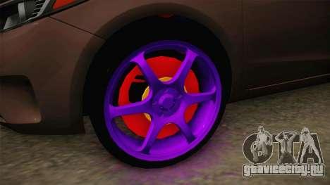 Kia Cerato Eccentric для GTA San Andreas вид сзади