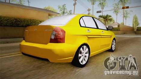 Hyundai Accent 2011 для GTA San Andreas вид слева