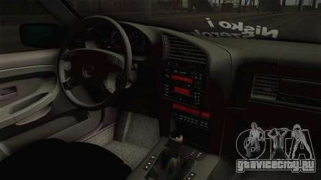 BMW M3 E36 Coupe для GTA San Andreas вид изнутри