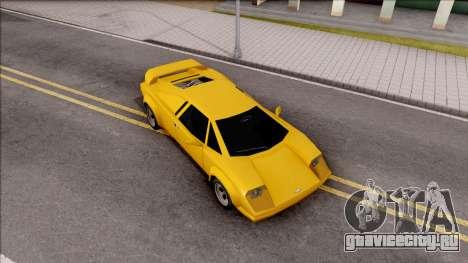 Infernus 1986 для GTA San Andreas вид справа