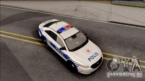Ford Taurus Turkish Security Police для GTA San Andreas вид справа