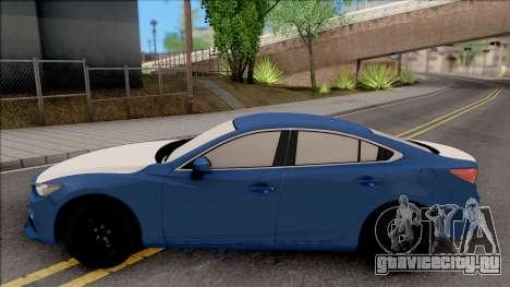 Mazda 6 Standard 2015 для GTA San Andreas вид слева