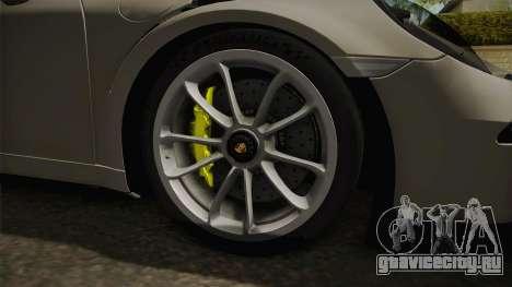 Porsche 911 GT3 RS 2015 для GTA San Andreas вид сзади