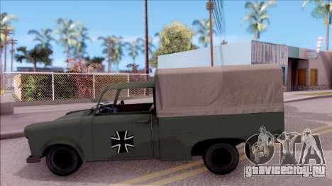 Trabant 601 German Military Pickup для GTA San Andreas вид слева