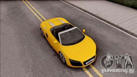 Audi R8 Cabriolet для GTA San Andreas вид справа