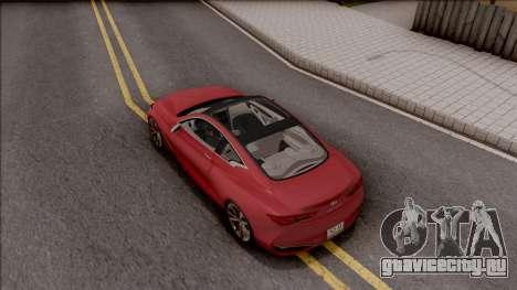 Infiniti Q60 для GTA San Andreas вид сзади