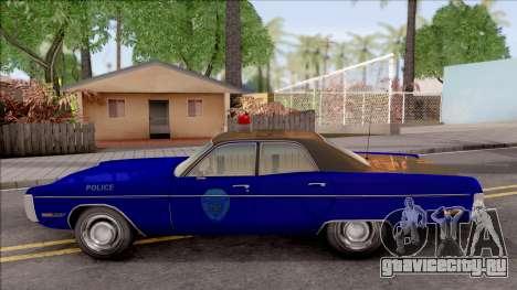 Plymouth Fury 1972 Housing Authority Police для GTA San Andreas вид слева