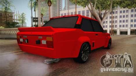 Fiat 131 Abarth для GTA San Andreas вид сзади слева