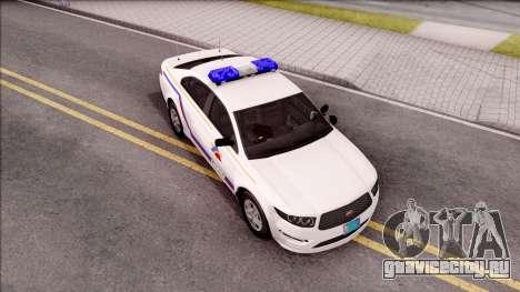 Vapid Police Interceptor Hometown PD 2012 для GTA San Andreas вид справа