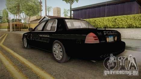 Ford Crown Victoria PI Stealth YRP для GTA San Andreas вид слева