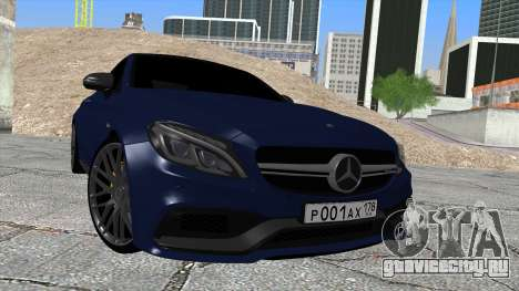 Mercedes-Benz C63 Coupe Rashid Edition для GTA San Andreas вид справа