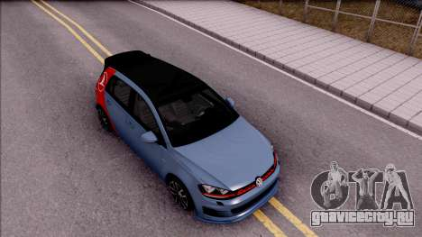Volkswagen Golf 7 GTI Turkish Airlines для GTA San Andreas вид справа