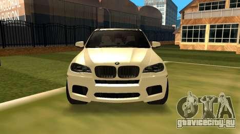BMW X5M v1.2 для GTA San Andreas вид сзади слева