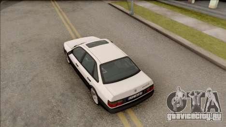 Volkswagen Passat B3 Sedan для GTA San Andreas вид сзади