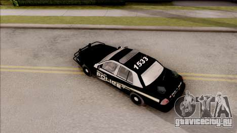 Ford Crown Victoria Central City Police для GTA San Andreas вид сзади