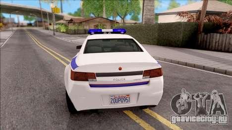 Cheval Fugitive Hometown PD 2012 для GTA San Andreas вид сзади слева