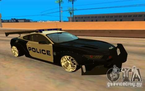 Ford Mustang GT 2015 Police Car для GTA San Andreas
