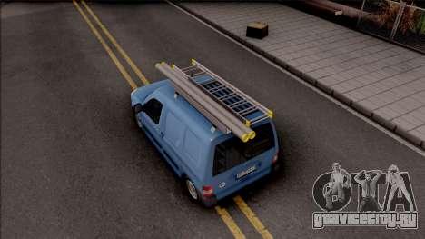 Citroen Berlingo Mk2 Van для GTA San Andreas вид сзади