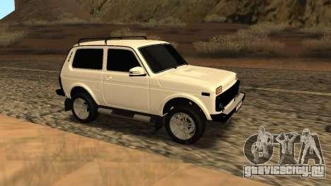 Lada Niva Urban Armenian для GTA San Andreas вид сзади