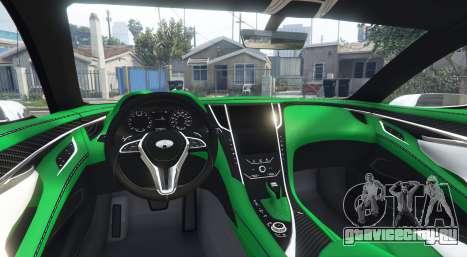 Infiniti Q60 Concept (CV37) 2015 для GTA 5 вид сзади справа