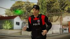 Turkish Police Officer with Kevlar Vest для GTA San Andreas