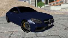 Mercedes-Benz C63 Coupe Rashid Edition для GTA San Andreas