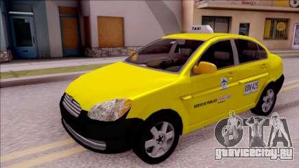 Hyundai Accent Taxi Colombiano для GTA San Andreas