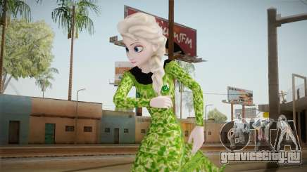Elsa Military Skin для GTA San Andreas