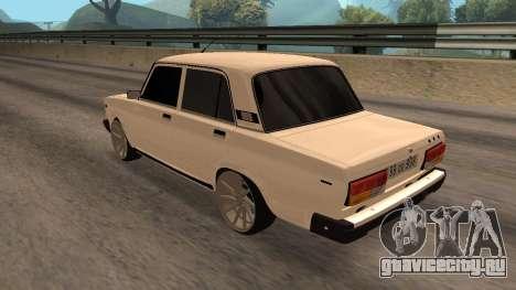 VAZ 2107 Armenian для GTA San Andreas вид слева