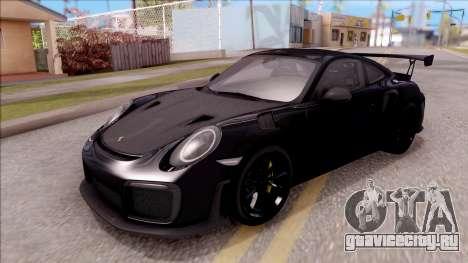 Porsche 911 GT2 RS 2017 SA Plate для GTA San Andreas