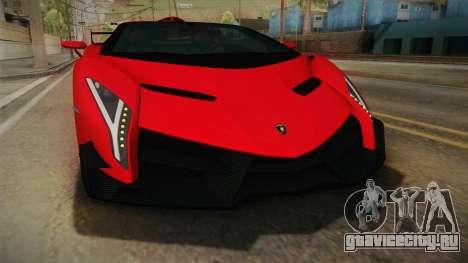 Lamborgini Veneno Roadster 2014 IVF v2 для GTA San Andreas вид сбоку