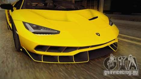 Lamborghini Centenario LP770-4 v1 для GTA San Andreas вид сверху
