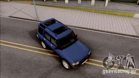 Land Rover Discovery для GTA San Andreas вид справа