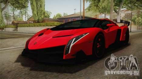 Lamborgini Veneno Roadster 2014 IVF v2 для GTA San Andreas вид справа