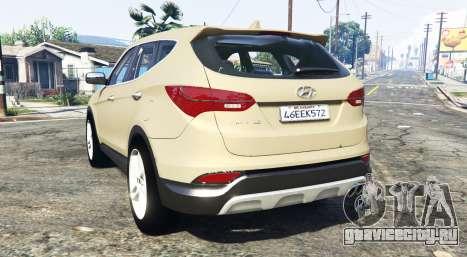 Hyundai Santa Fe (DM) 2013 [add-on] для GTA 5 вид сзади слева