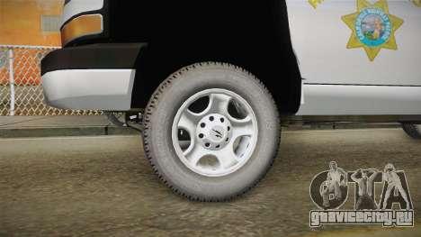 Chevrolet Express CHp для GTA San Andreas вид сзади