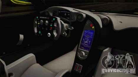 McLaren P1 GTR для GTA San Andreas вид изнутри