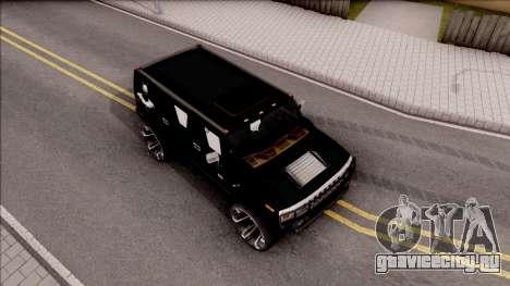 Hummer H2 Batman Edition для GTA San Andreas вид справа