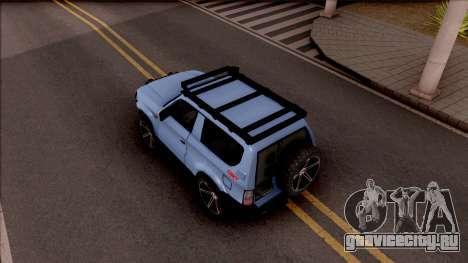 Toyota Meru Off-Road для GTA San Andreas вид сзади