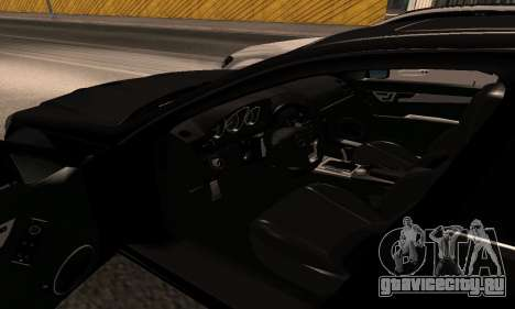 Mercedes-Benz C63 Armenia для GTA San Andreas вид изнутри